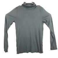J.crew Womens Tissue T Knit Gray Long Sleeve Turtleneck Top  L
