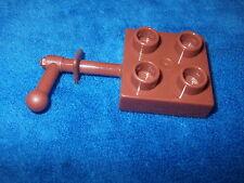 LEGO DUPLO RITTERBURG aus 4777 + 4776 + 4785 KURBEL FÜR DIE HEBEBRÜCKE BRAUN cc