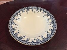 Stunning Royal Worcester Blue And Whote Soup Bowl Dating To 1890S