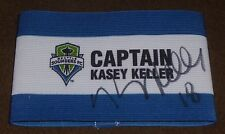 KASEY KELLER SIGNED SEATTLE SOUNDERS FC SGA CAPTAIN'S ARM BAND MLS SOCCER