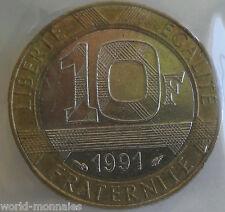 10 francs Génie de la bastille 1991 : TTB : pièce de monnaie française
