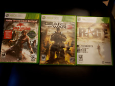 Gears of War 3 / Dead Island / Rage Xbox 360 Game Lot
