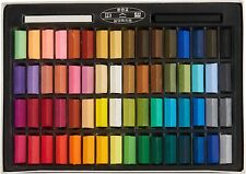 Non Toxic Square Chalk, Soft Pastel, 64 Pack, Assorted Colors