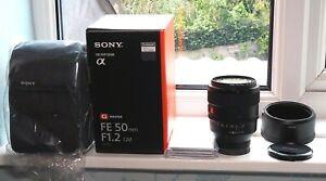Ѕоnу FE 50mm f/1.2 GM Lens (SEL50F12GM) MINT used once