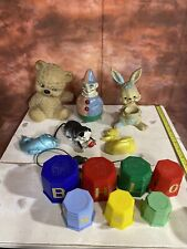 Collection Of Vintage And Retro Baby Toys