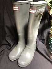 "Hunter Tall ""Welly"" Gloss Rain Boot in Gray Graphite- Size Women's 8 EUC"