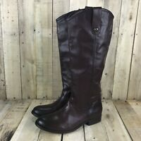 FRYE Melissa Button Pull On Tall Knee High Leather Boots Womens Size 7 Brown New