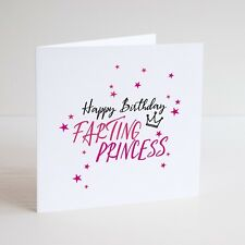 Funny Greeting Card / Humour / HAPPY BIRTHDAY / FARTING PRINCESS / CELEBRATE