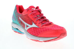 Mizuno Wave Rider 19 FCLR606B63 Womens Pink Mesh Athletic Running Shoes 8