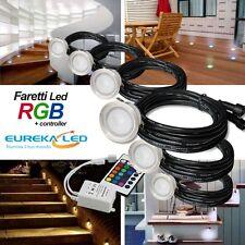 Kit 6pz Faretto RGB Calpestabile Led segnapasso IP67 punti luce con driver