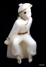 Very Old Figurine Made of Salt Asian Oriental Chinese Man Figurine