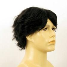 Perruque homme 100% cheveux naturel noir ref JUSTIN 1b