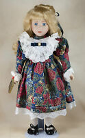 """Original Studio 5 Collection Porcelain Doll Holding Bible 16"""" w/ Box & Stand"""