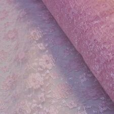Baby/Pale Pink Budget Flower Lace Fabric *Per Metre