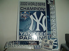 NEW YORK YANKEES 2000 World Series Champions 5 Pc room Set Parking Sign Sticker