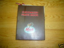 Mack Service Manual - Customized Parts Book RS690LST
