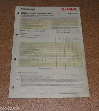 Inspektionsblatt Yamaha EW 50 / Slider Typ SA091 Baujahr 2000