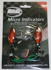 Micro Bulb Indicators for bikes with high level exhaust pipes (R&G Racing RG370)