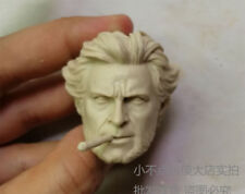Free Shipping 1/6 Head Sculpt Wolverine Hugh Jackman X-Men with cigar unpainted