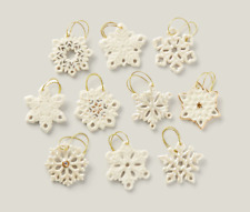 Lenox Snowflake Miniature Tree Ornaments Set of 10 Winter Christmas Holiday New