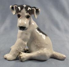 Großer foxterrier Terrier Figur Rosenthal  hund porzellanfigur porzellan Kärner