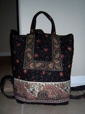 New Vera Bradley Black Walnut Mimi Backpack Nwot