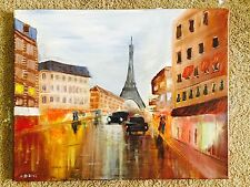 Handmade Painting .. Paris
