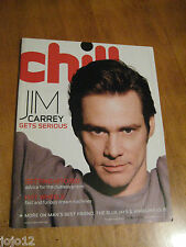 Rare! Canada Chill Magazine 2005 Jim Carrey GETS SERIOUS Angelina Jolie