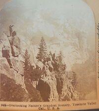 Yosemite Valley Ca B L Singley 1899 landscape Keystone stereoview photo vtg mts
