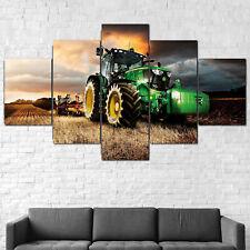 John Deere Tractor Lawn Mower Farming Canvas Framed 5 Pcs Wall Art Poster Decor