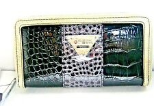 GUESS Women's BAY VIEW SLG Wallet Zip Around Python New NWT