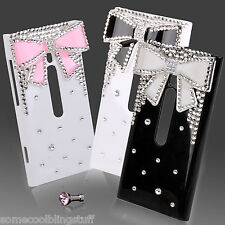 LUXURY BLING BLACK WHITE PINK DIAMANTE PROTECTIVE CASE COVER 4 NOKIA LUMIA 800