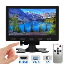 "7"" inch LCD CCTV Monitor Mini PC Screen HDMI VGA AV/RCA 1080P Video w/ Speaker"