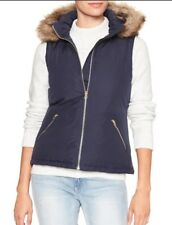 Gap Women`s Puffer Vest Fashion Warmest Faux Fur Hooded Outerwear NWT $65