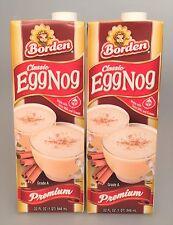 Borden Premium Egg Nog 32 oz ( 2 Pack) Eggnog