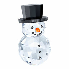 SWAROVSKI SNOWMAN WITH HAT BRAND NIB #5135852 CRYSTAL CHRISTMAS WINTER CUTE