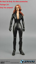 ZY TOYS 1/6 Black Widow Female Leather PU Jumpsuit Clothing ZY15-2 F 12''  Doll
