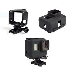 para GoPro Hero 5 6 Estándar MARCOS Soporte y silicona funda blanda protectora