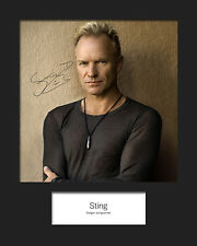 STING #1 10x8 SIGNED Mounted Photo Print - FREE DELIVERY