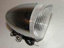 Scheinwerfer Retro 6V / 2,4 W verchromt Fahrrad Lampe für Seitenläufer Nr 01015