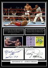 (#130) muhammad ali & george foreman signed a4 photograph great boxing gift ####