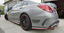 CARBON SIDE SKIRT SPOILER P STYLE FOR MERCEDES BENZ W205 AMG & C43 & C63 & C63S