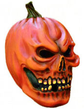 Skull Pumpkin Mask Scary Latex Full Overhead Halloween Fancy Dress Masque NEW