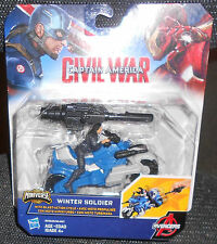 CAPTAIN AMERICA - CIVIL WAR - WINTER SOLDIER  WITH BLAST ACTION CYCLE