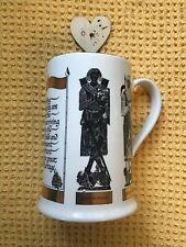 More details for vintage burleigh ironstone crusader knights ceramic tankard