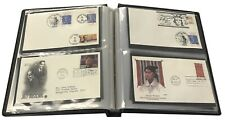 FDC Collection Album Showgard US #6 First Day Covers Binder Black Seal New