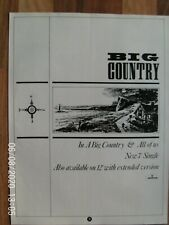 More details for big country - in a big country - stuart adamson - poster advert 1980s original