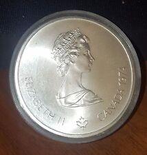 1974 BU Canada RCM 10 Dollar Silver 1976 Montreal Olympic Games Silver Coin
