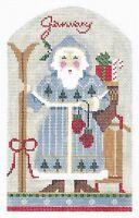 Needlepoint Handpainted KELLY CLARK Christmas January Santa 4x7