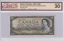 1954 Series Bank of Canada $20 *V/E Modified Replacement BCS VF-30 **Rare Note**